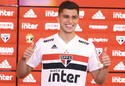 Vitor Bueno é apresentado no S.Paulo e quer 'recomeço'