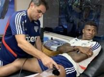 Arboleda iniciou o tratamento no Reffis. Foto: Érico Leonan/SPFC
