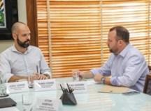Bruno Covas e Beto Vidoski, em reunião na Prefeitura de São Paulo.  Foto: Junior Camargo/PMSCS