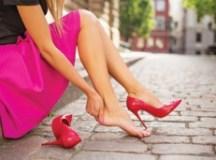 Salto alto e lesões em corredoras