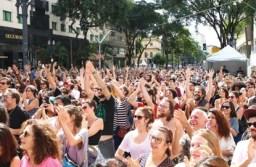 Os maiores públicos foram registrados no Vale do Anhangabaú, no centro da cidade. Foto: Rovena Rosa/Agência Brasil