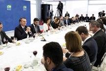 Bolsonaro participou de café da manhã com a imprensa. Foto: Marcos Corrêa/PR