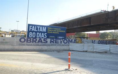 Prefeitura de São Bernardo oficializa entrega do Viaduto da Praça dos Bombeiros em 80 dias