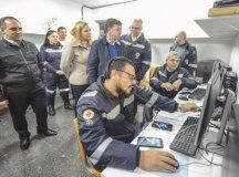 Autoridades conhecem estrutura da nova base do Serviço de Atendimento Móvel de Urgência. Foto: Gabriel Inamine/PMSBC
