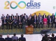 O presidente Jair Bolsonaro, participa da cerimônia alusiva aos 200 dias de governo, no Palácio do Planalto. Foto: Valter Campanato/Agência Brasil