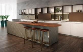 Com toque acolhedor, tampo de madeira maciça é sugestão para compor projeto gourmet