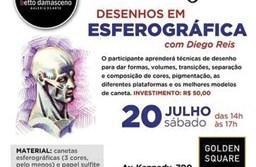 O professor Diego Reis ensinará técnicas de desenho usando caneta esferográfica. Foto: Divulgação