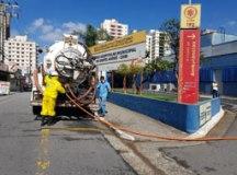 Cidades do ABC realizam limpeza de ruas e avenidas contra o coronavírus