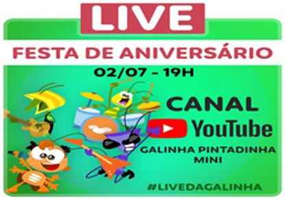 Galinha Pintadinha fará live que mistura teatro, fantoches e músicas do desenho