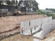 Intervenção vai minimizar a ocorrência de enchentes. Foto: Divulgação/Semasa