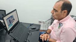 Auricchio e Doutor Seraphim  realizaram primeiro encontro virtual nesta quinta. Foto: Divulgação