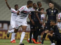 Em jogo com confusão do VAR, São Paulo empata com o Ceará no Castelão