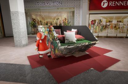 Shoppings do ABC apostam em tecnologia para garantir distanciamento do Papai Noel