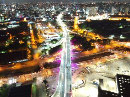 Duas novas faixas de tráfego que irão transpor a avenida dos Estados e o rio Tamanduateí foram liberadas nesta quinta-feira. Foto: Guilherme Teixeira/Terracom