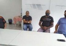 """Holanda, Queiroz, Santos e Silva: """"o PDT não aceita xenofobia"""". Foto: Angelica Richter"""