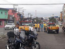 Via é um dos principais pontos de encontro da cidade; objetivo é conter disseminação do coronavírus. Foto: Divulgação/PM