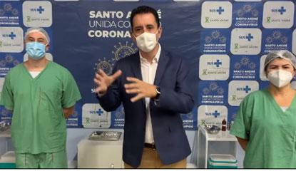 """Serra: """"Hoje é um dia importante. Logo mais, chegarão as primeiras doses da vacina"""". Foto: Reprodução Facebook"""