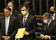 Abertura do ano legislativo contou com a presença de Bolsonaro. Foto: Fábio Rodrigues Pozzebom/Agência Brasil