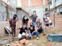 Em ano atípico, projeto manteve atuação e fortaleceu relações com a comunidade do Morro da Kibon, em Santo André. Foto: Divulgação