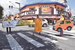Ações visam ao aumento da segurança dos pedestres. Foto: Divulgação/PMD