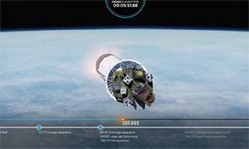 NanoSatC-Br2 será o último de 38 satélites a ser liberado em órbita. Foto: Roscomos - GK Launch Services/Divulgação/ABR