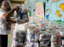 Sua Fome me Incomoda: em um mês, campanha entregou 75 toneladas em doações. Foto: Divulgação/PMD