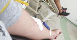 Hospital ressalta importância da doação de sangue. Foto: Angelica Richter