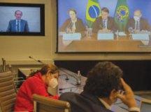 Bolsonaro disse a empresários que a vacina é fundamental. Foto: Everton Amaro/Divulgação/Fiesp