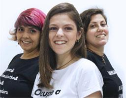 Paula,, Bruna e Fernanda formam o mandato das Mulheres por + Direitos. Foto: Divulgação
