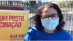 """É muito importante se vacinar, porque é a única forma de conter esse vírus"""", afirmou a secretária de Saúde, Rejane Calixto. Foto: Divulgação/PMD"""