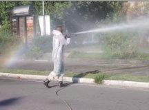 Prefeituras adotam a sanitização contra o coronavírus. Foto: Reprodução Facebook