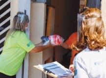 Em 2020, a Campanha do Agasalho atendeu 7.000 famílias com a doação de cobertores, mantas e edredons. Foto: Eric Romero/PMSCS
