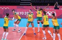 Vôlei feminino do Brasil passa fácil pelo Japão e conquista 3ª vitória em Tóquio