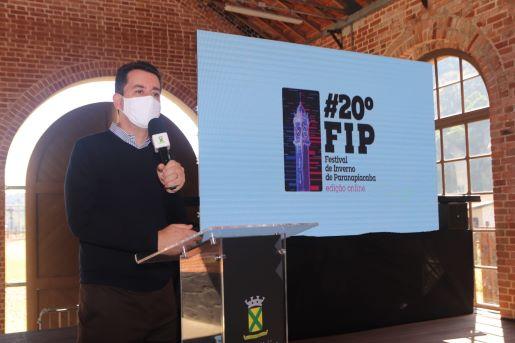 O FIP 2021 foi lançado oficialmente nesta sexta-feira (23) pelo prefeito Paulo Serra em cerimônia que aconteceu na plataforma do Expresso Turístico de Paranapiacaba. Foto: Helber Aggio/PSA,