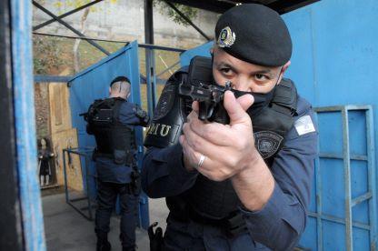 Agentes de segurança participaram de formação com instrutor da Rocam e também no Centro de Formação da Guarda Civil Municipal. Foto: Angelo Baima/PSA