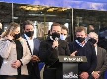 """Doria: """"saúde e vida; prioridades em um ano de pandemia"""". Foto: Governo do Estado de São Paulo"""