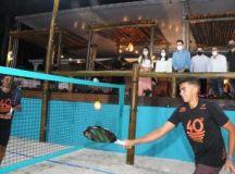 Unidade da Arena 40 Graus Beach Tennis, na Vila Pires, tem área de 2 mil metros quadrados; iniciativa gerou 18 vagas de emprego na cidade. Foto: Angelo Baima/PSA