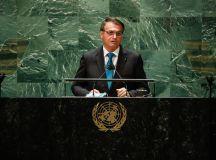 Texto final do discurso de Bolsonaro na ONU teve ajuda do filho Eduardo. Foto: Alan Santos/PR