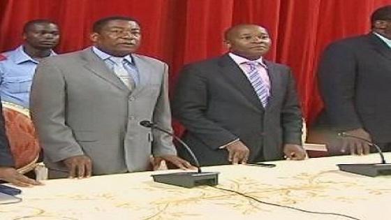 Martín Ndong Nsue y Salvador Ondo Ncumu