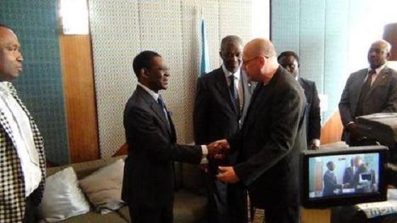 Teodoro Obiang Nguema Mbasogo y Luc Michel