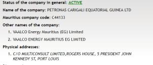 Petronas Carigali Equatorial Guinea Ltd