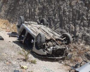 Estado en el que ha quedado el vehículo. Foto CPB.