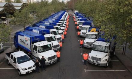 Las Condes presentó modernos vehículos de recolección de residuos domiciliarios