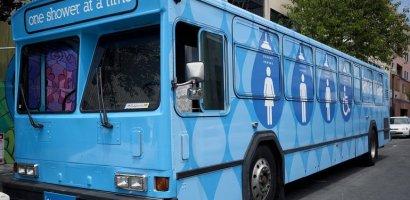 Duchas rodantes para habitantes de calle en San Francisco California