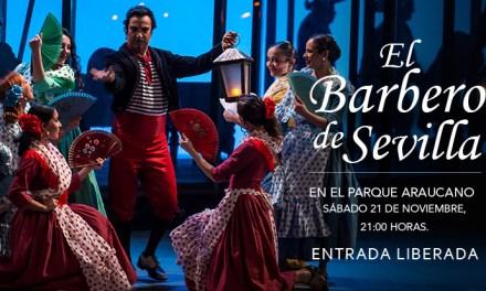 La popular ópera El barbero de Sevilla se presentará gratis en el Parque Araucano