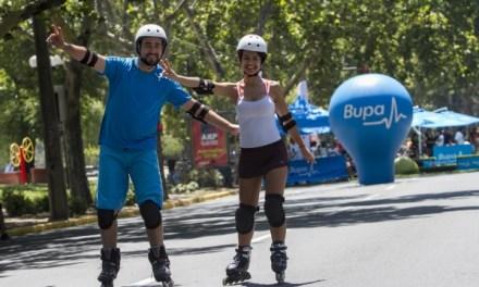 Bupa se suma a CicloRecreoVía con innovador punto de préstamo de patines