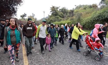 """Más de 2 mil personas participaron en la """"Caminata por el Medio Ambiente"""" en el Cerro San Cristóbal"""