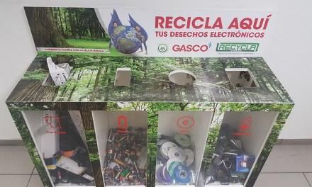 Contenedores de reciclaje fomentan cuidado del medioambiente al interior de Empresas Gasco