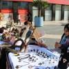 Microemprendedoras se lucieron en exposición en Plaza María Luis Bombal de la Ciudad Jardín