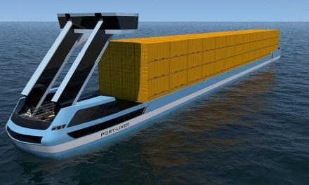 Primeras barcazas eléctricas de contenedores navegarán por Europa este año